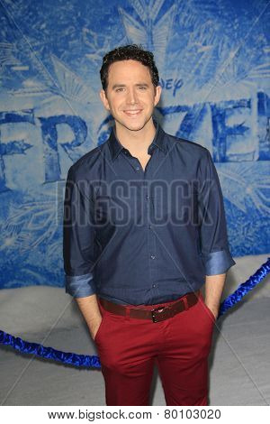 LOS ANGELES - NOV 19: Santino Fontana at the premiere of Walt Disney Animation Studios' 'Frozen' at the El Capitan Theater on November 19, 2013 in Los Angeles, CA