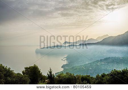 Coastline on Majorca island