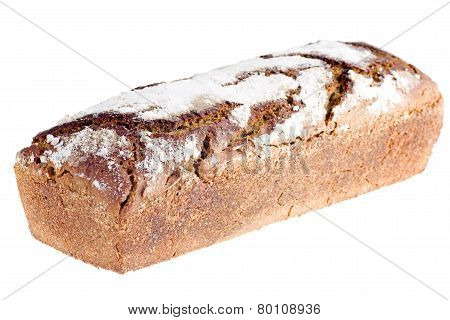 Home-made Bread Isolated On White Background