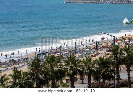 Alanya - the beach of Cleopatra .