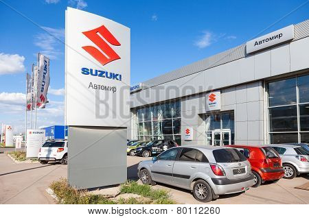 Office Of Official Dealer Suzuki. Suzuki Motor Corporation Is A Japanese Multinational Corporation