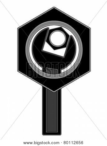 The Logo Of The Bolts And Wrench.