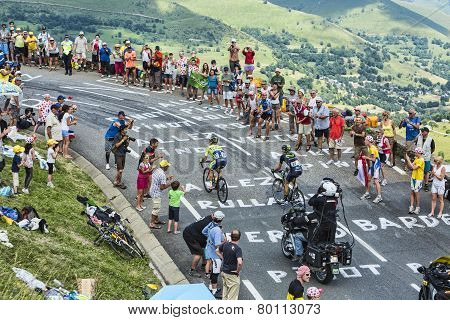 Cyclists On The Road Of Le Tour De France