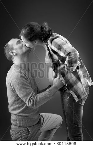 Portrait of a happy pregnant couple