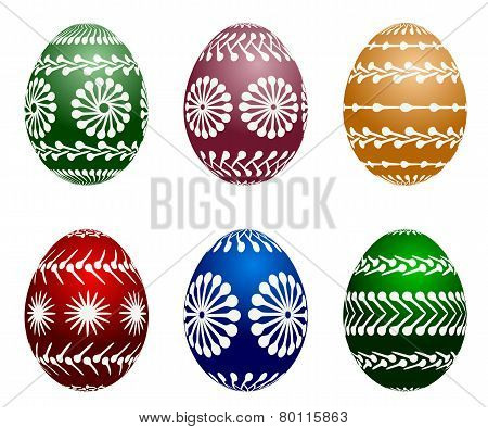 vector painted easter eggs