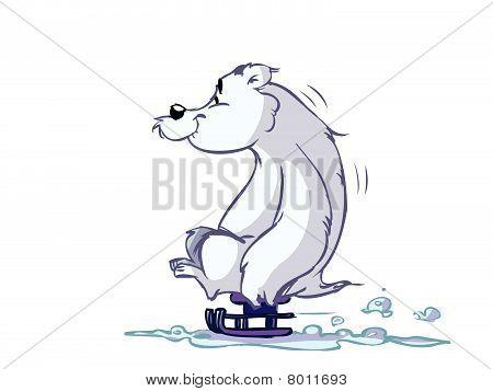 ice-bear on sled