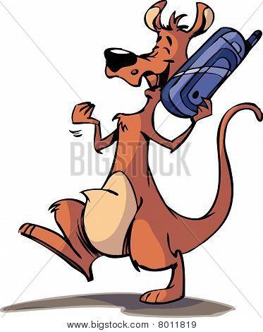 cell phone kangaroo