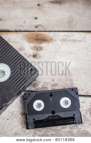Cassette On A Wooden
