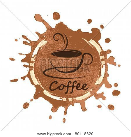 coffee design over background vector illustration
