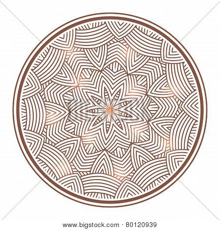 winter celtic knot pattern card, mandala, amulet