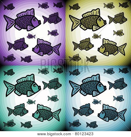 Pattern with a decorative fishes