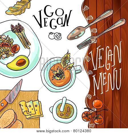 menu vegetarian cafe