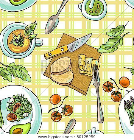 seamless pattern vegetarian