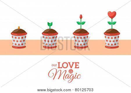 Valentine's Day Love Flower.