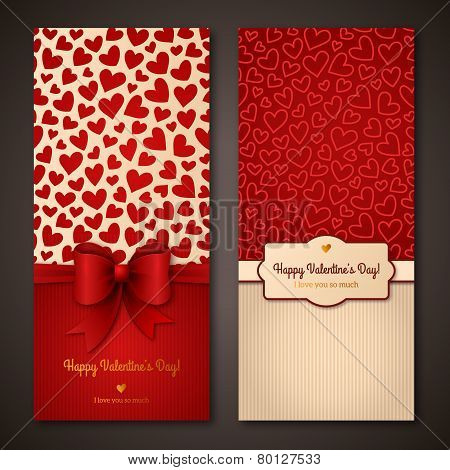 Happy Valentine's Day greeting cards.
