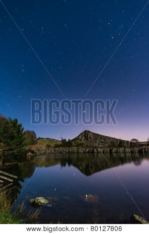 Stars Reflect In Cawfield Quarry