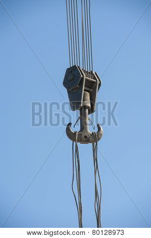 Large Hook On Industrial Crane