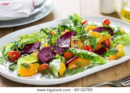 Orange With Beetroot Salad