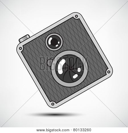 Hipster Retro Style Photo Camera