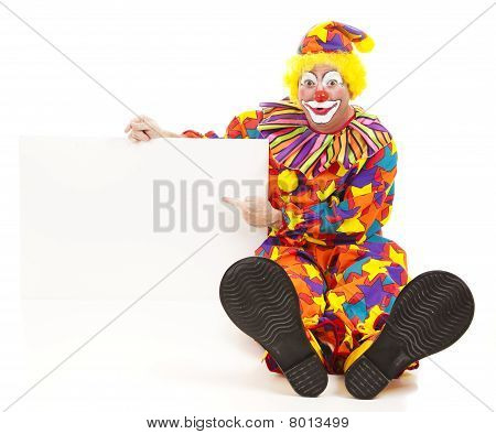 Cheerful Clown Has Message