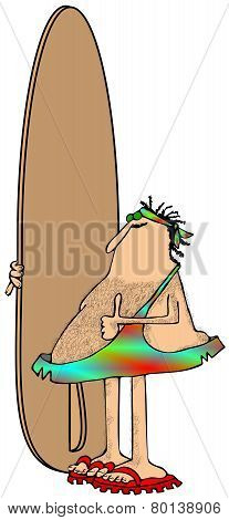Caveman surfer