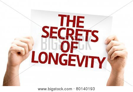 The Secrets of Longevity card isolated on white background