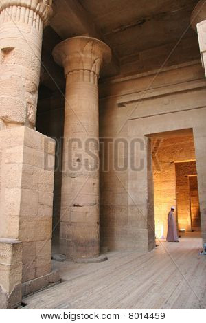 Temple of Philae with a Guard
