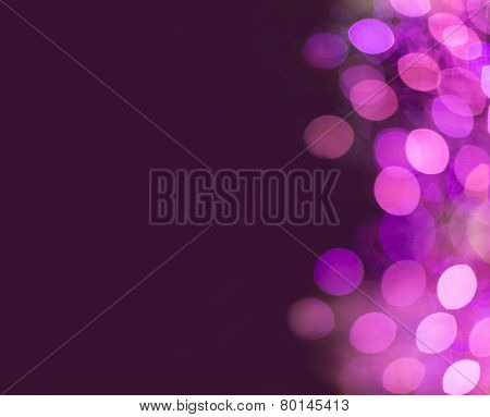 Interesting purple background with lights on one side