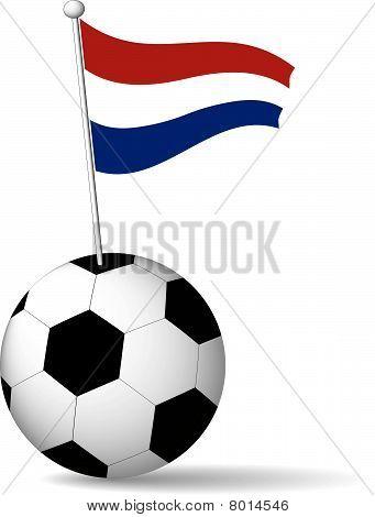 Netherlands Flag in Soccer Ball