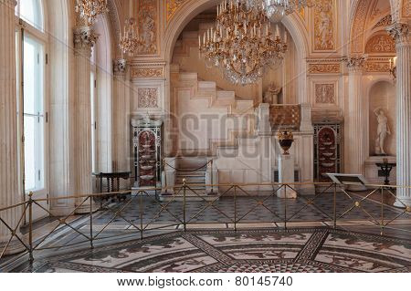 ST. PETERSBURG, RUSSIA - JANUARY 17, 2013: Interior of the Moorish hall of the Winter Palace. Now the Palace is the part of the State Hermitage Museum, the world largest state museum