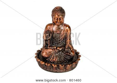 A statue of Sitting Buddha
