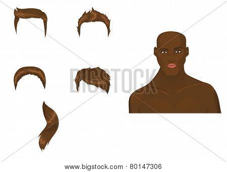 Set Of Male Haircuts