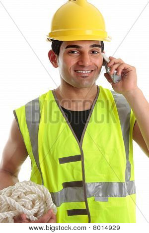 Happy Builder Construction Worker