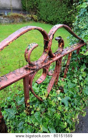 Old Rusty Gate Close Up