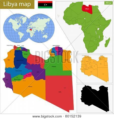 Administrative division of Great Socialist People's Libyan Arab Jamahiriya.
