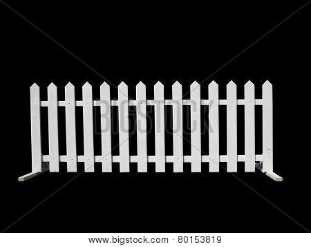 Wooden Fence At Ranch Isolated On Black Background