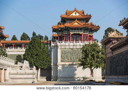 Building And Wall In Taoist Temple