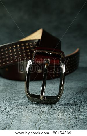 Female Belt Against From A  Leather