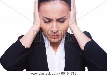 Stressed Businesswoman.