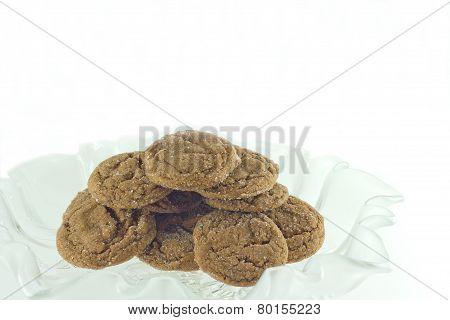 Homemade Sugared Molasses Cookies