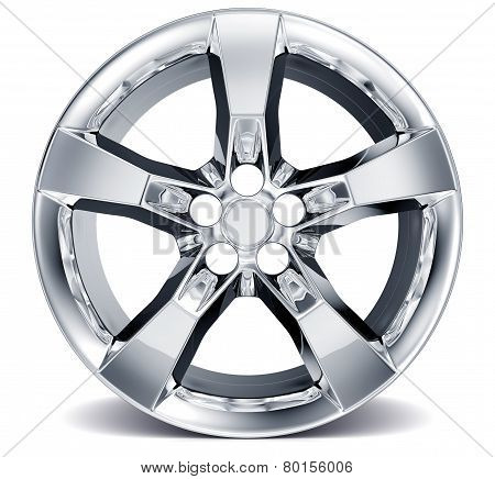Wheel Rim isolated on white