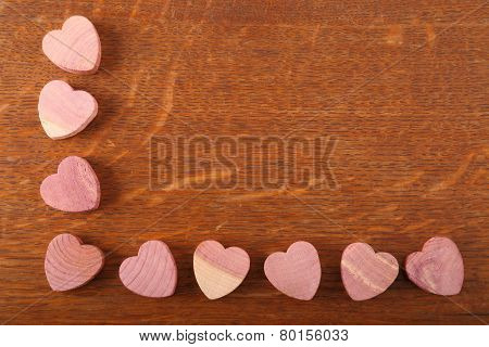 Wooden Hearts.