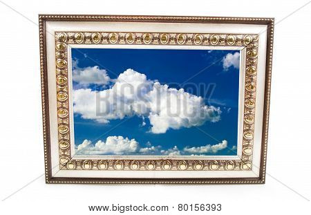 Frame for a photo with the sky