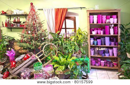 Interior Of Florist Shop