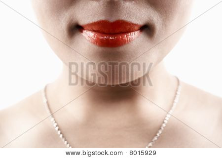 Woman Face Without Expression