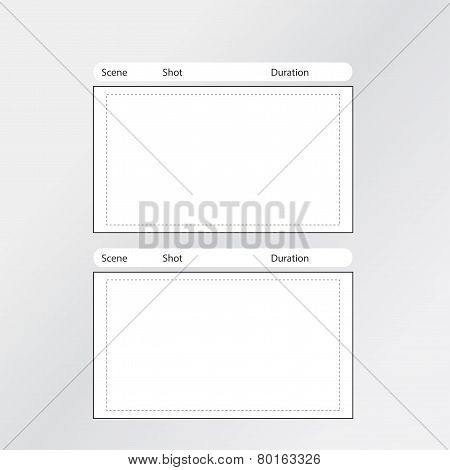Storyboard Template 2 frames