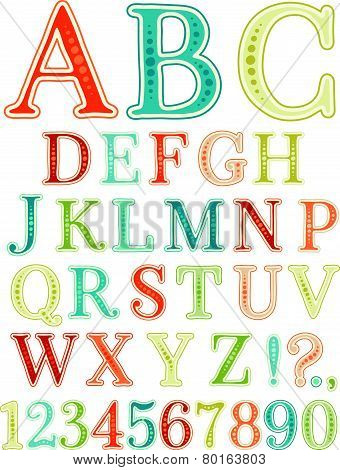 Handwritten vintage alphabet
