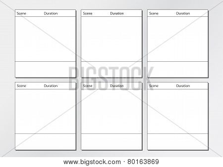 TV Commercial Storyboard Template 6 frames