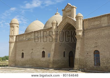 Arystan Bab Mausoleum exterior circa Otrartobe, South Kazakhstan province, Kazakhstan.