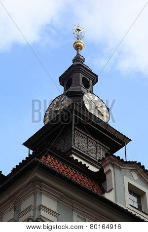 View Of Jewish Town Hall Clocks